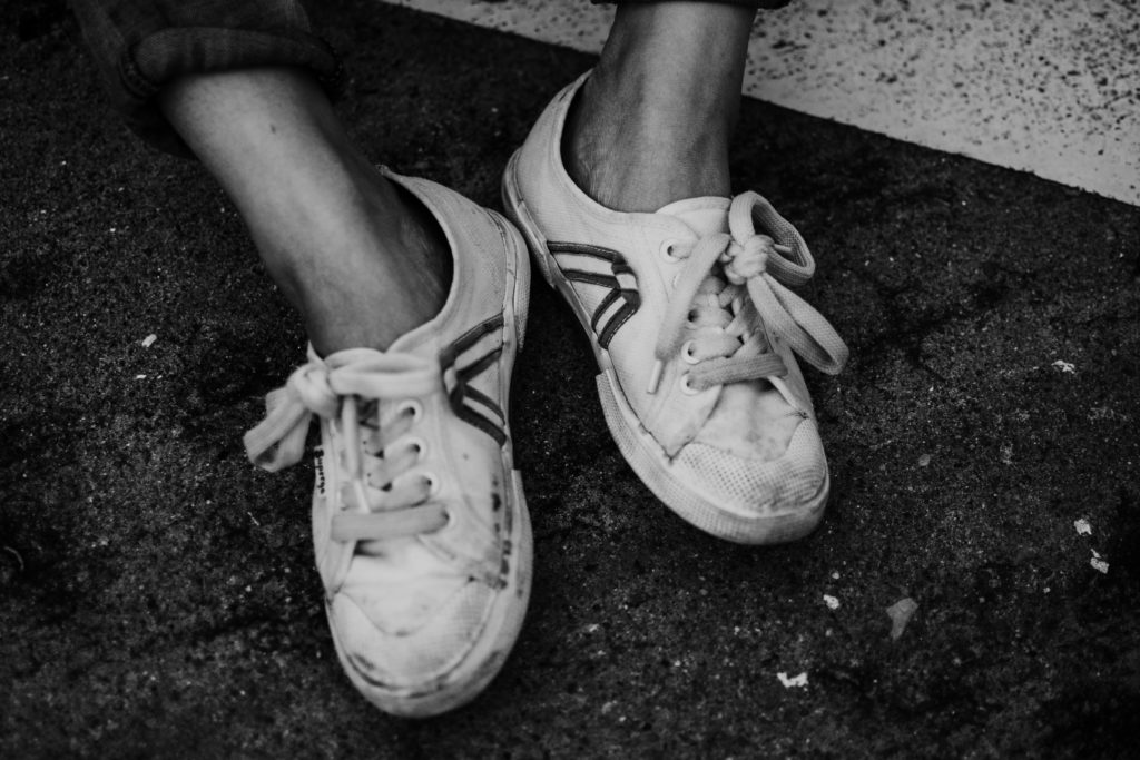 Dreckige Schuhe sind ein Grund warum Ihr Sie nicht tragen solltet